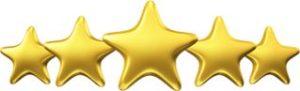 5 star reviews